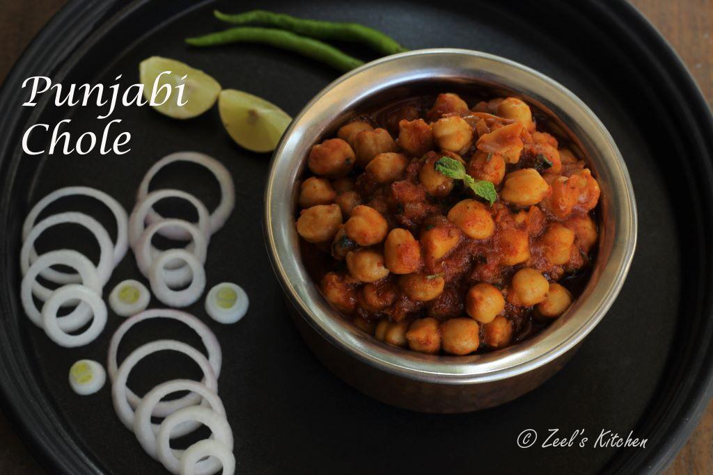 Punjabi Chole Recipe | Chana Masala | Indian Spiced Chickpeas Curry Recipe