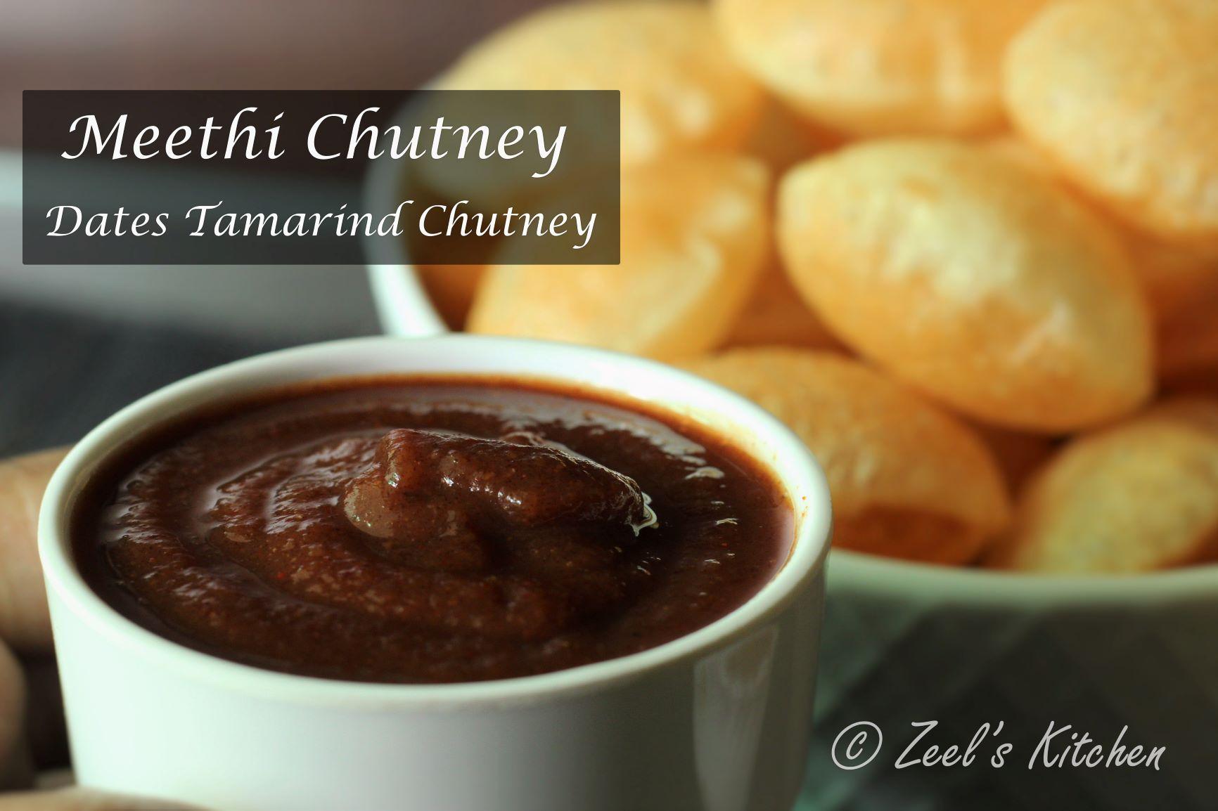 Meethi Chutney | Dates Tamarind Chutney | Imli Khajur Chutney | Indian Sweet and Sour Sauce