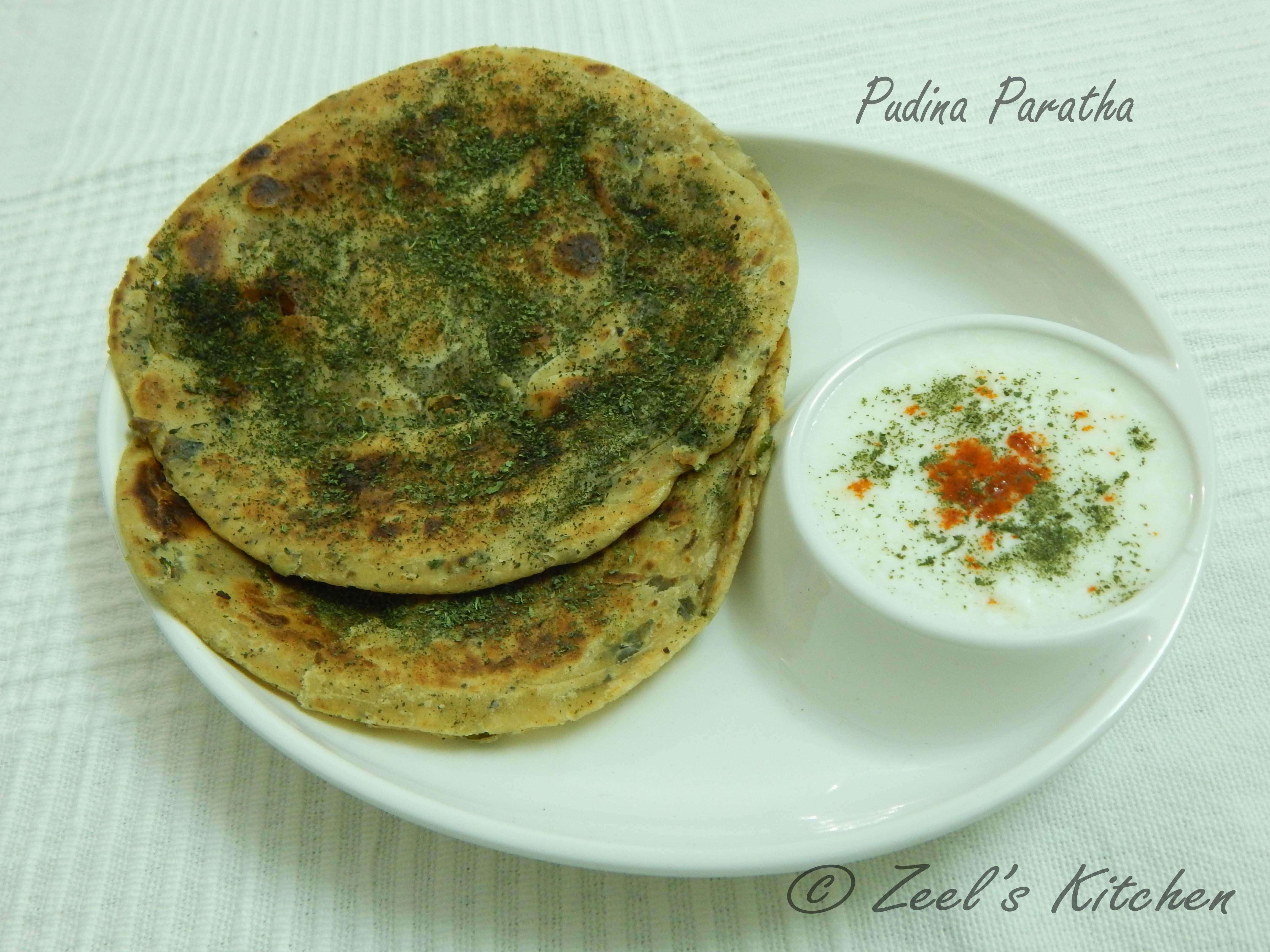Pudina Paratha ( Mint Paratha ) Recipe   Zeel's Kitchen