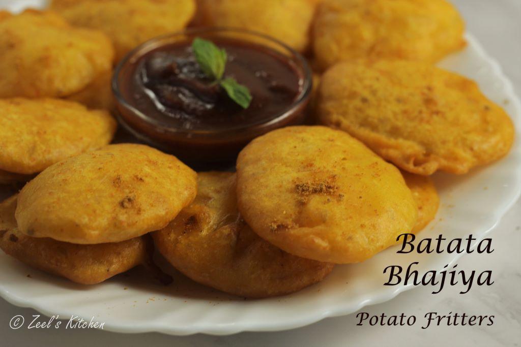 Batata Bhajiya Recipe | Potato Fritters Recipe