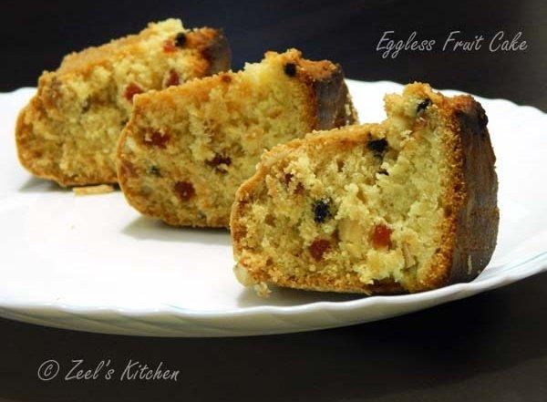 Eggless Fruit Cake Images : Eggless Fruit Cake (No Milkmaid No MilkPowder) Zeel s ...