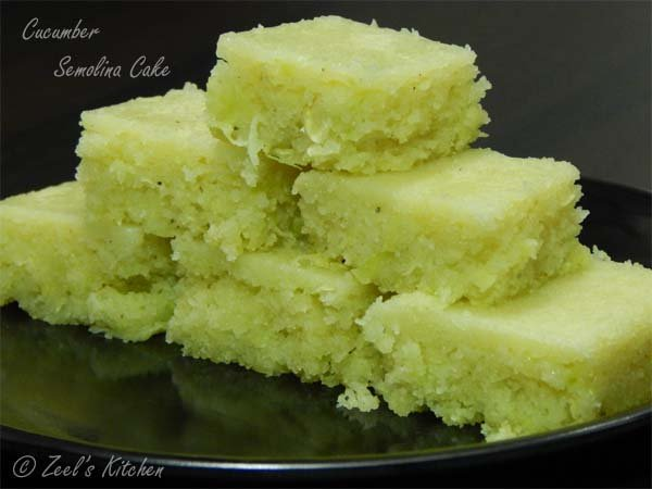 Cucumber semolina cake cucumber cake recipe zeels kitchen cucumbersemolinacake forumfinder Gallery