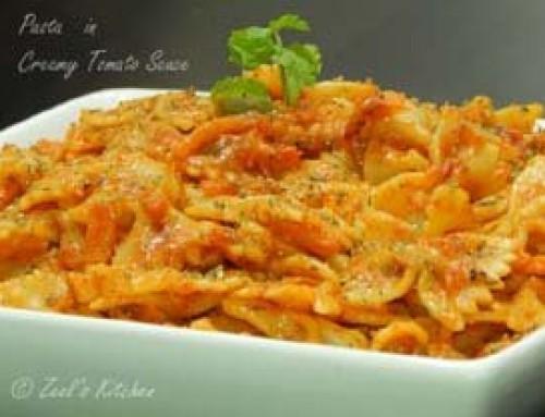 Pasta in Creamy Tomato Sauce