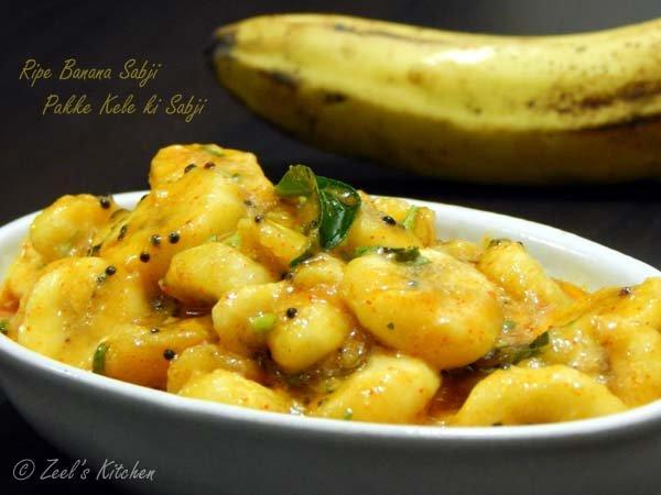 Ripe Banana Sabji