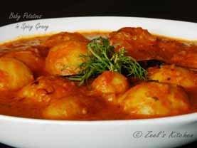 Baby Potatoes in Spicy Gravy