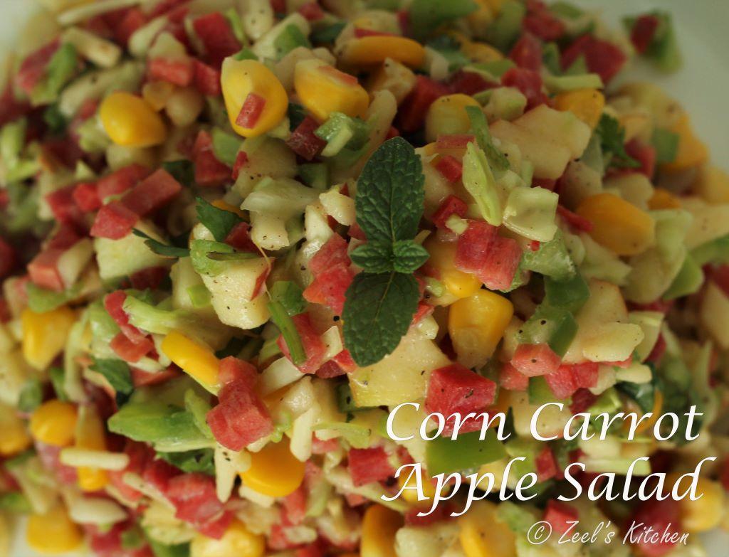Corn Carrot Apple Salad | Corn Carrot Apple Salad Recipe