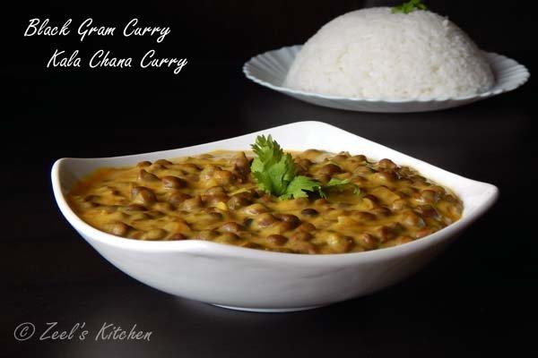 Black Gram Curry Kala Chana Curry