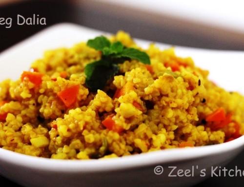 Vegetable Dalia | Masala Vegetable Dalia Recipe