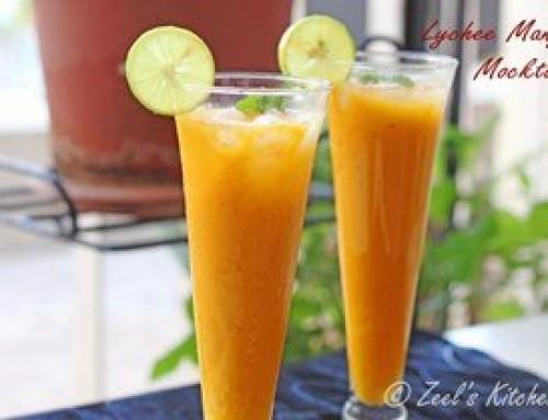 Lychee Mango Mocktail ( Lychee Mango Cooler )