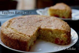 Eggless Rava Cake with whole wheat flour Eggless Semolina Cake