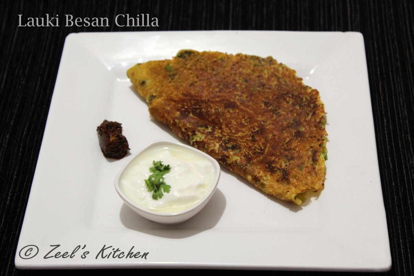 Lauki Besan Chilla   Gram Flour Bottle Gourd Indian Pancakes