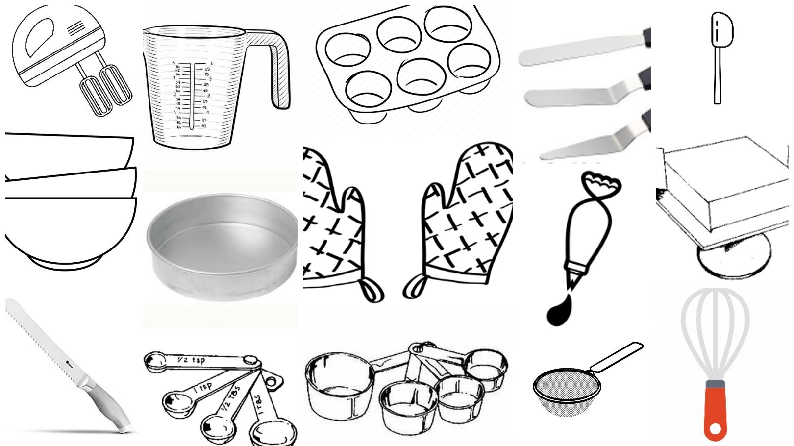 Cake Baking Tools & Equipment | Zeel's Kitchen