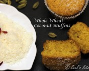 Eggless Whole Wheat Coconut Muffins