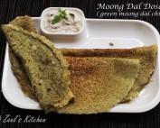 Moong Dal Dosa | Green Moong Dal Chilla | Pesarattu