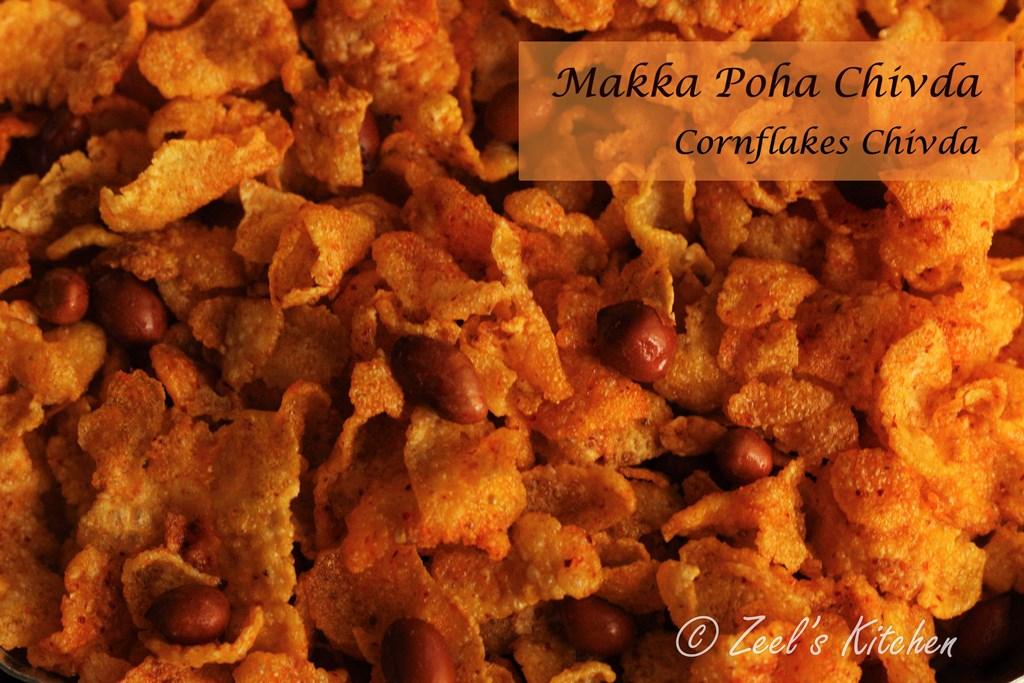 Cornflakes Chivda | Makka Poha Chivda | Fried Makka Poha Mixture