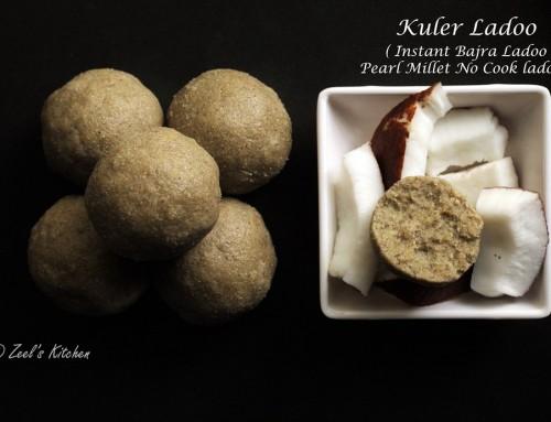 Kuler Ladoo | Instant Bajra Ladoo | Pearl millet no-cook Ladoo Recipe