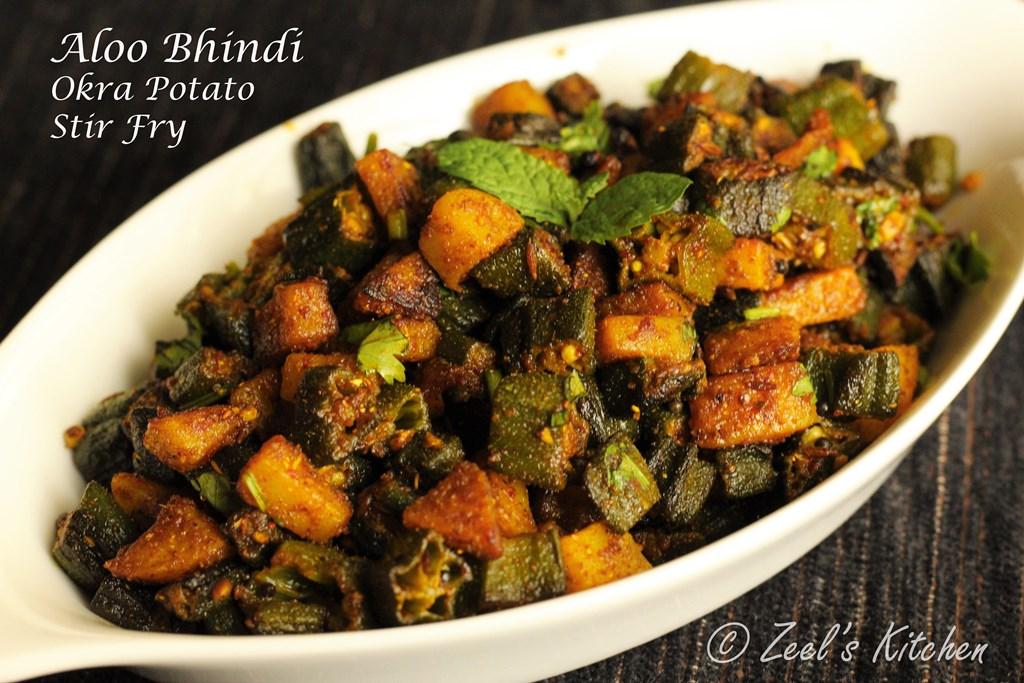 Aloo Bhindi | Bhinda Bataka Recipe | Okra Potato Stir Fry