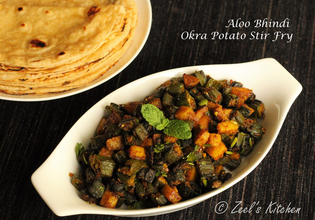 Aloo Bhindi | Bhindi Aloo Recipe | Okra Potato Stir Fry