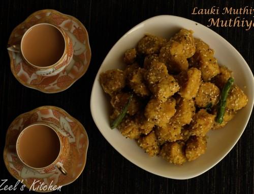 Gujarati Muthiya | Lauki Muthiya Recipe