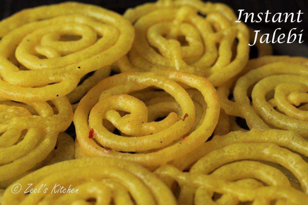 Instant Jalebi Recipe | No-fail Homemade Jalebi Recipe | Crispy Jalebi in 5 min Recipe