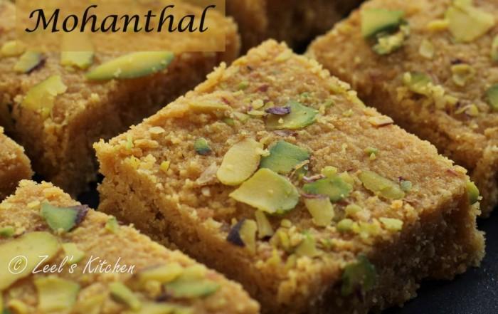 Traditional Gujarati Mohanthal Recipe | Gujarati Mohanthal Recipe | Gram Flour Fudge