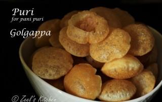 Puri for Panipuri Recipe | How to make puri for pani puri at home | Zeel's Kitchen