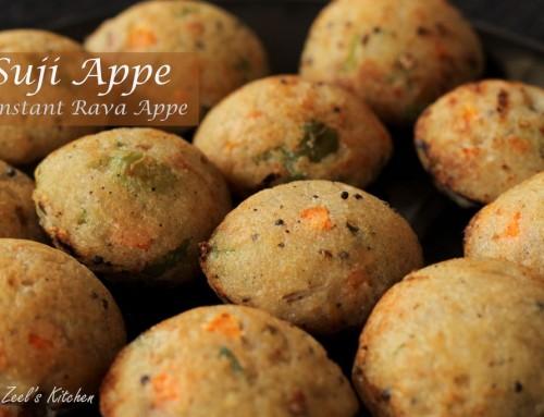 Suji Appe | Instant Rava Appe Recipe