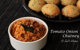 Tomato Onion Chutney Recipe | South Indian Red Chutney Recipe