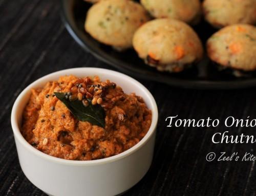Tomato Onion Chutney Recipe   South Indian Red Chutney Recipe