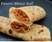 Paneer Bhurji Roll | Paneer Bhurji Wraps | Paneer Bhurji Kathi Rolls | Scrambled Cottage Cheese Frankie