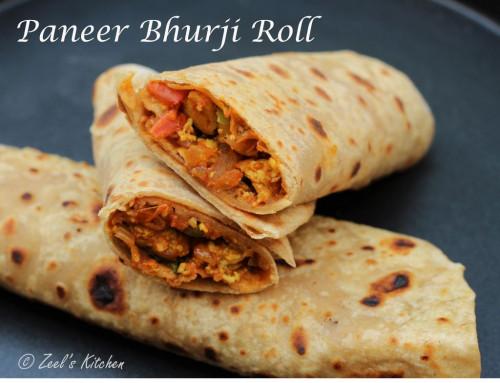 Paneer Bhurji Roll | Paneer Bhurji Wraps | Paneer Bhurji Kathi Rolls