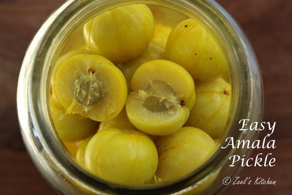 Easy Amala Pickle | Athela Amla | Indian Gooseberry in Brine Recipe