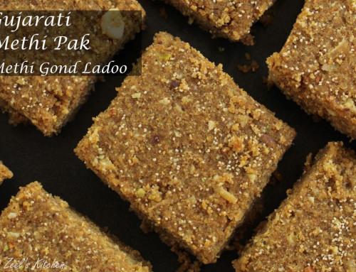 Gujarati Methi Pak | Methi Gond Ladoo
