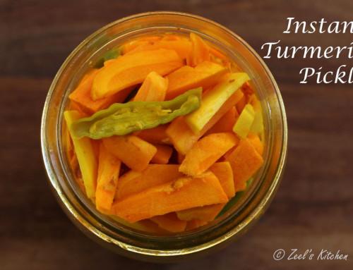 Instant Fresh Turmeric Pickle | Atheli Haldar | Haldi Ka Achar
