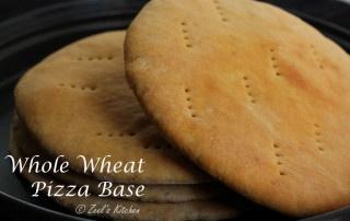 Whole wheat pizza base | Wholesome Pizza Base | Homemade Pizza Base