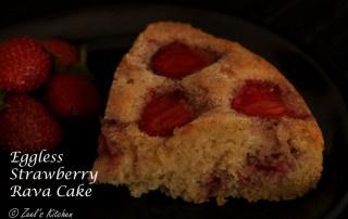 Eggless Strawberry Rava Cake | Eggless Strawberry Suji Aata Cake | Eggless Strawberry Rava Cake with Whole Wheat Flour
