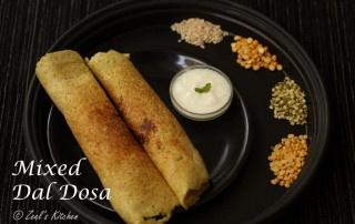 Mixed Dal Dosa Recipe | Mixed Dal Dosa Recipe without Rice | Healthy Protein-Rich Dosa