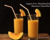 Sugar-free Muskmelon Banana Smoothie | Muskmelon Banana Smoothie Recipe | Muskmelon Banana Lassi