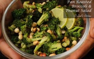 Pan Roasted Broccoli and Peanut Salad | Roasted Broccoli and Peanut Salad Recipe