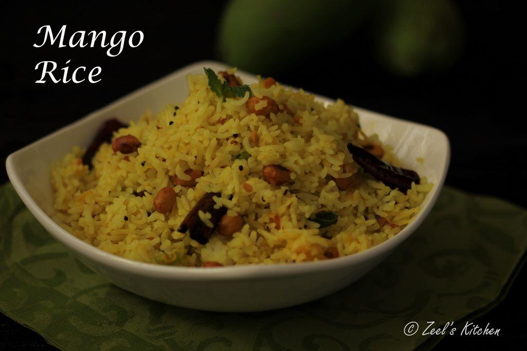 Mango Rice Recipe   Indian Raw Mango Rice   Kairi Bhat Recipe