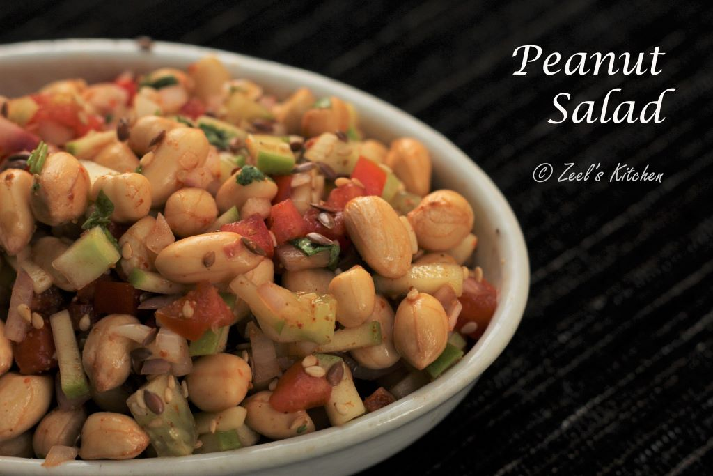 Peanut Salad Recipe | Soaked Peanut Salad | Healthy Weight-loss Peanut Salad