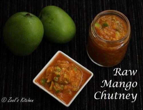 Raw Mango Chutney | Gujarati Style Raw Mango Chutney Recipe