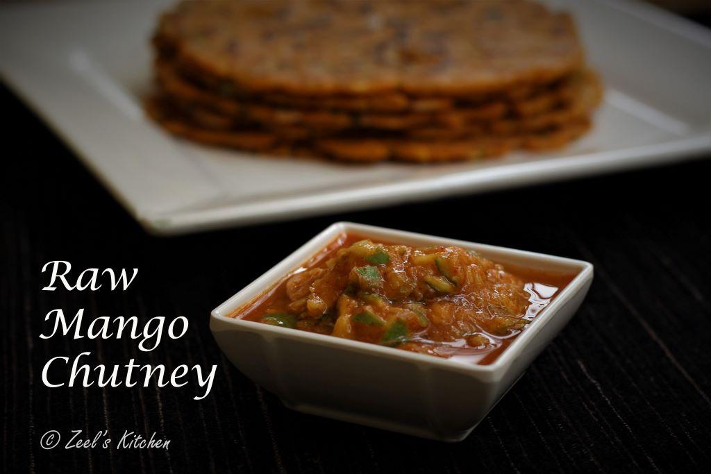 Raw Mango Chutney | Gujarati Style Raw Mango Chutney Recipe | Khatti Meethi Kachi Keri ni Chutney
