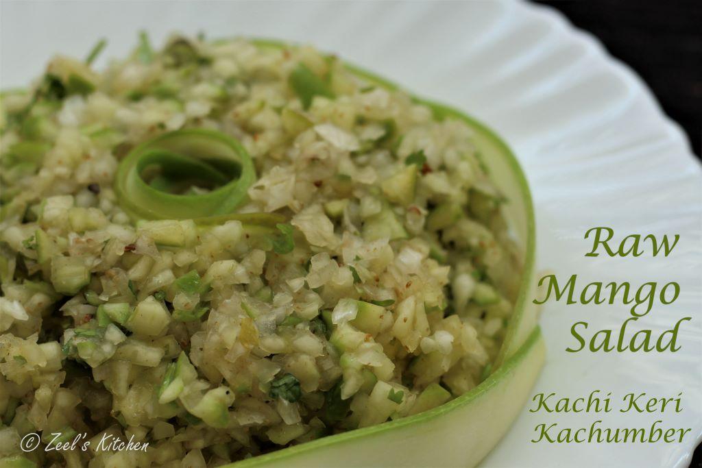 Raw Mango Salad | Raw Mango Onion Kachumber | Kachi Keri Kachumber