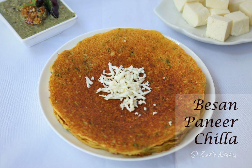 Paneer Chilla | Besan Paneer Chilla Recipe | Protein-Rich Chilla Recipe