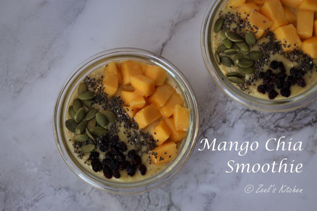 Mango Chia Smoothie Recipe | Sugar-free Mango Chia Smoothie Recipe