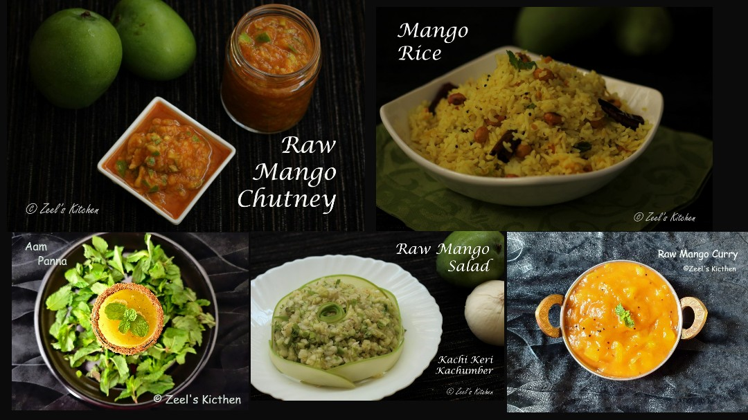 Collection of Raw Mango Recipes | Different Raw Mango Recipes | Green Mango Recipes