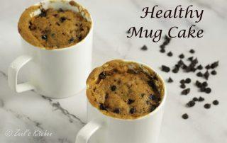 Healthy Mug Cake   Eggless Whole Wheat Jaggery Mug Cake