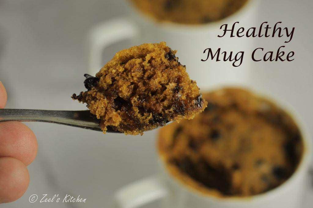 Healthy Mug Cake | Whole Wheat Jaggery Mug Cake
