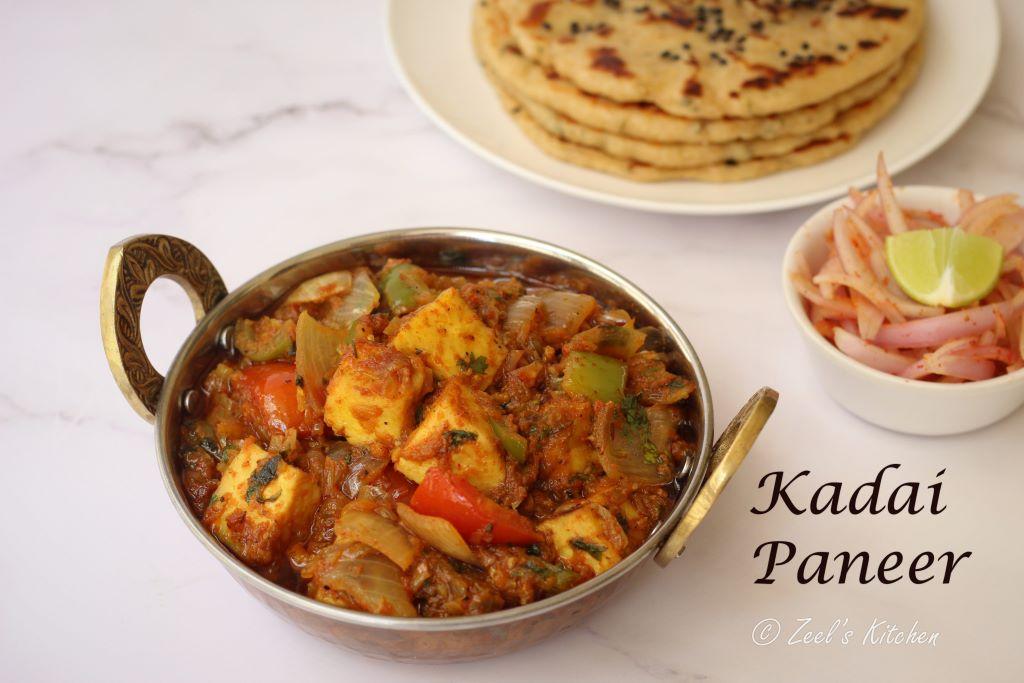Kadai Paneer Recipe with Homemade Kadai Masala | Easy Kadai Paneer Recipe
